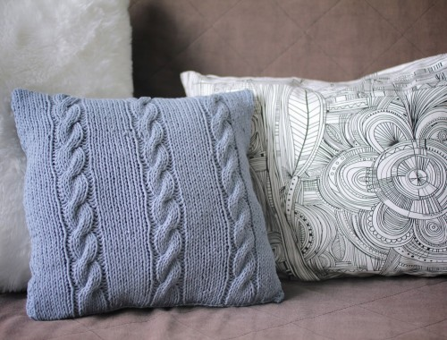 Coussin-tricot