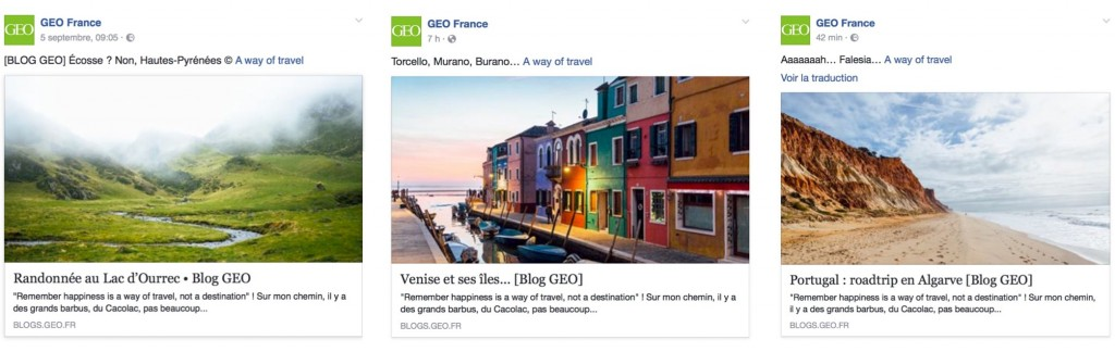 Publication geo magazine france blog voyage