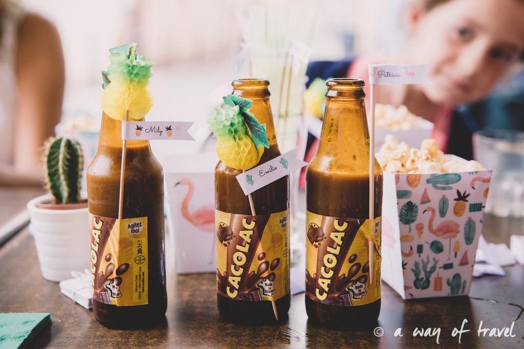 Anniversaire thème ananas tropical flamant rose vasco toulouse bar 30 ans 19