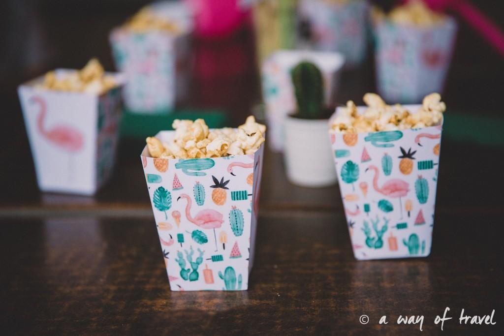 Anniversaire thème ananas tropical flamant rose vasco toulouse bar 30 ans 23