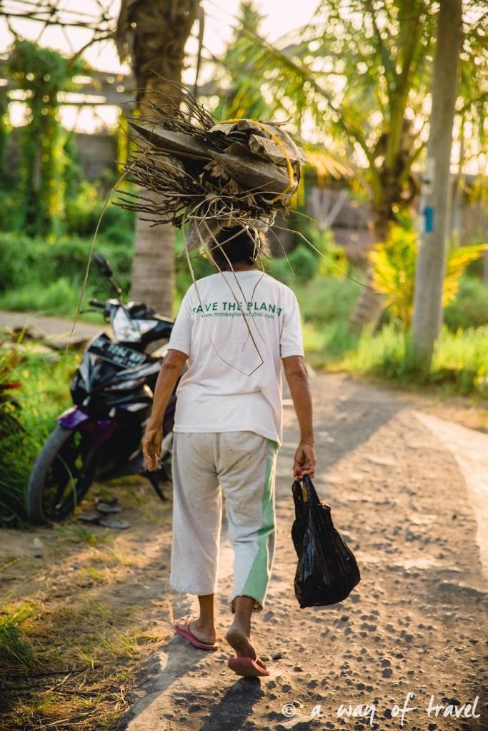 visit Ubud Indonesia Bali quoi faire rizière sana penestanan femme woman