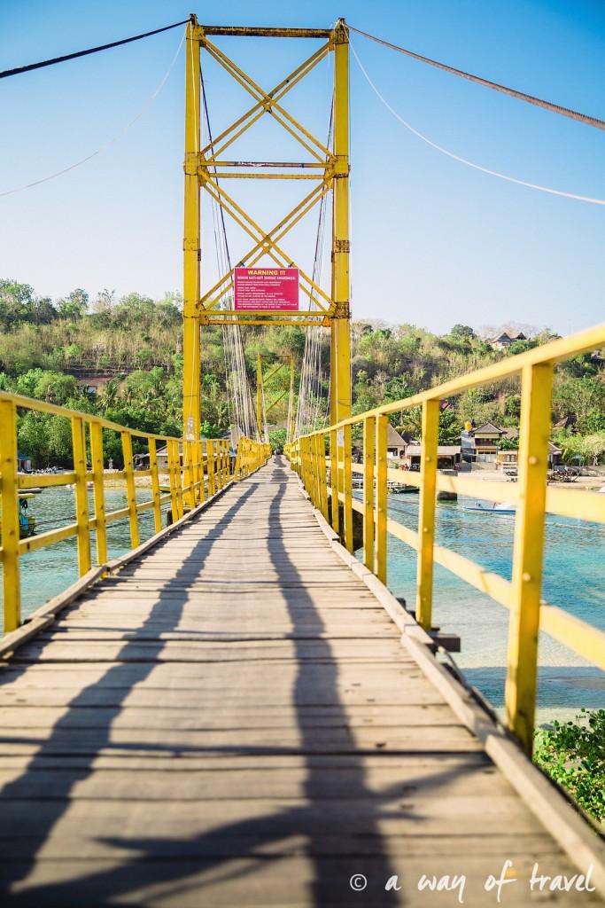 Visit Bali Indonesie Nasi Lembongan bridge pont
