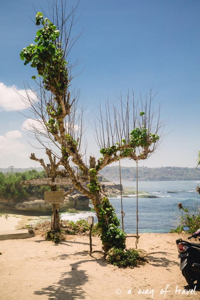 Visit Bali Indonesie Nasi Lembongan dream beach balancoire