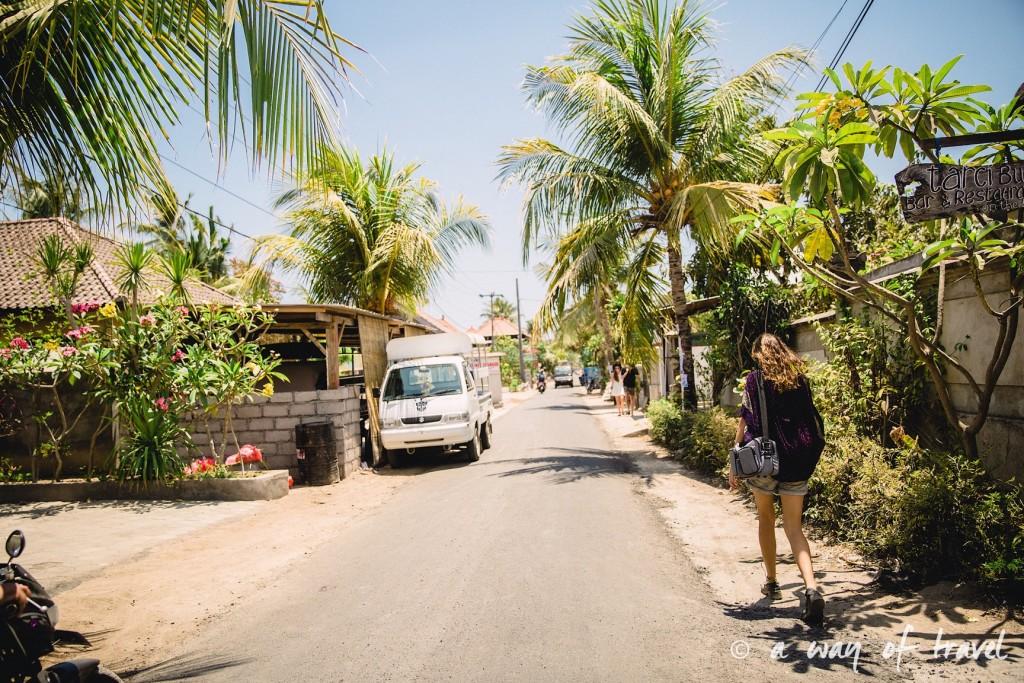 Visit Bali Indonesie Nasi Lembongan street rue