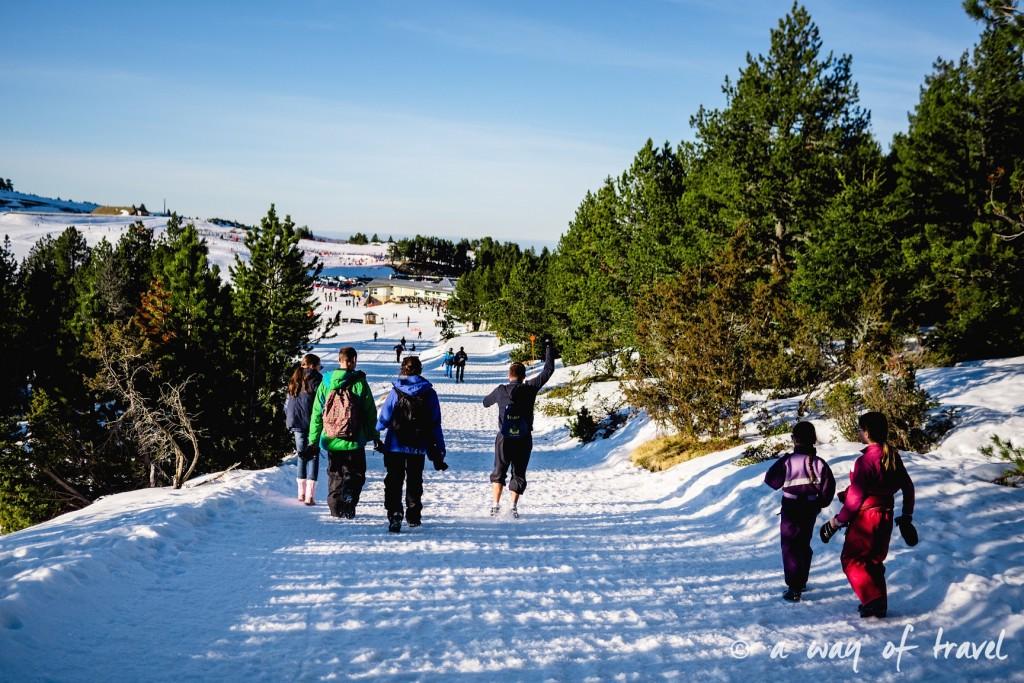 Plateau de beille Pyrénées randonnee raquette ski de fond hiver blog voyage 1