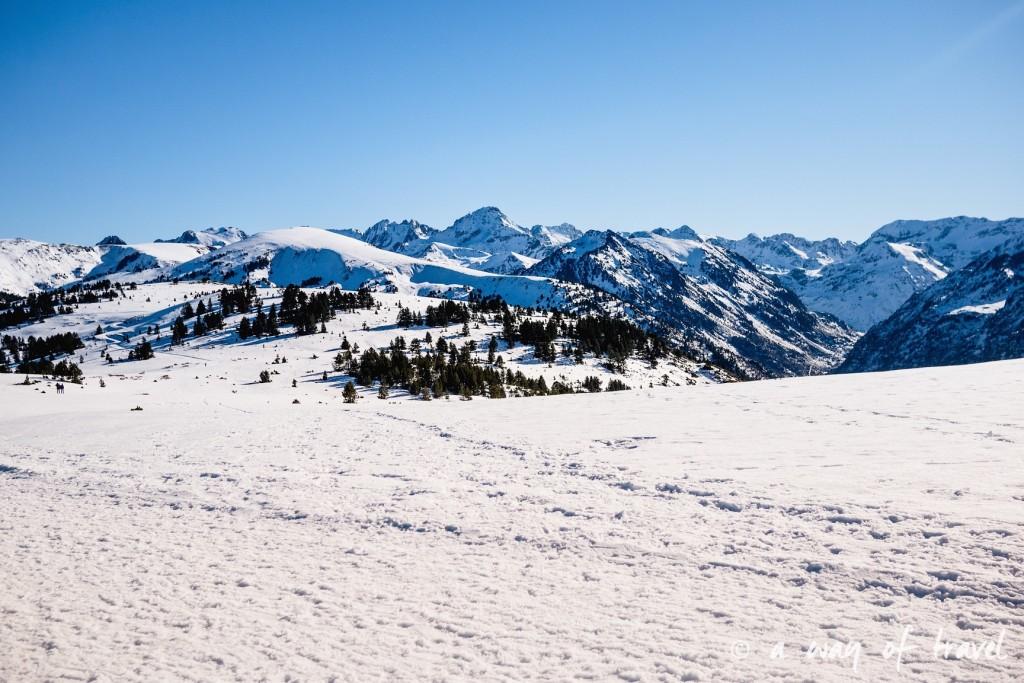 Plateau de beille Pyrénées randonnee raquette ski de fond hiver blog voyage 14