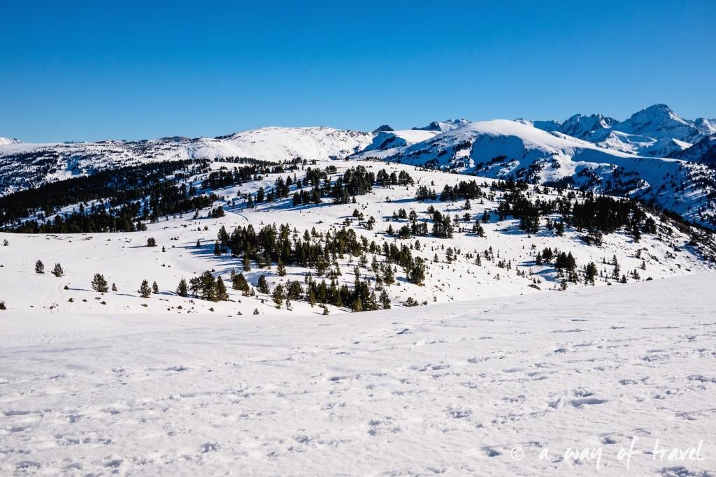 Plateau de beille Pyrénées randonnee raquette ski de fond hiver blog voyage 17