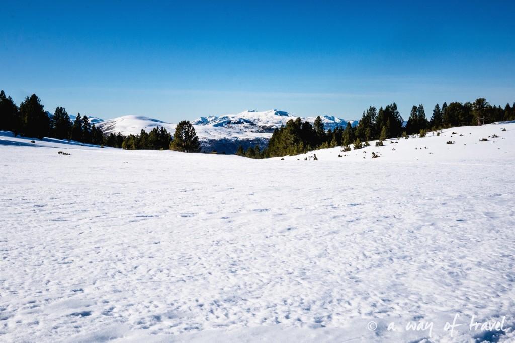 Plateau de beille Pyrénées randonnee raquette ski de fond hiver blog voyage 2