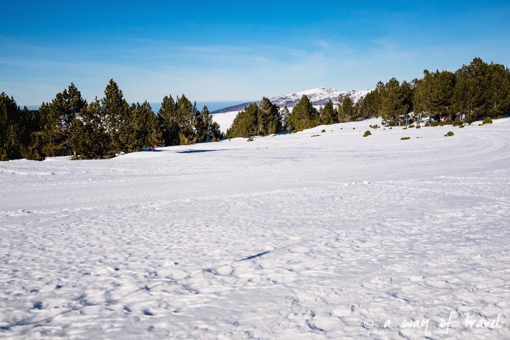 Plateau de beille Pyrénées randonnee raquette ski de fond hiver blog voyage 20