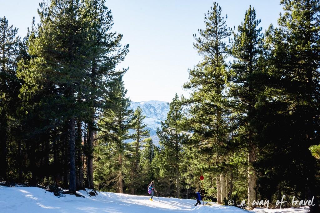 Plateau de beille Pyrénées randonnee raquette ski de fond hiver blog voyage 27