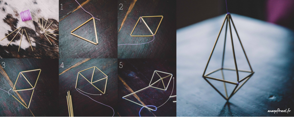 himmeli DIY laiton tuto pas a pas diamant geometrie deco scandinave 3