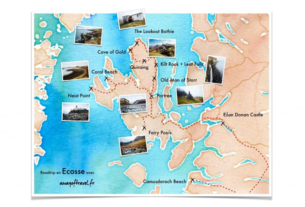 Map scotland skye