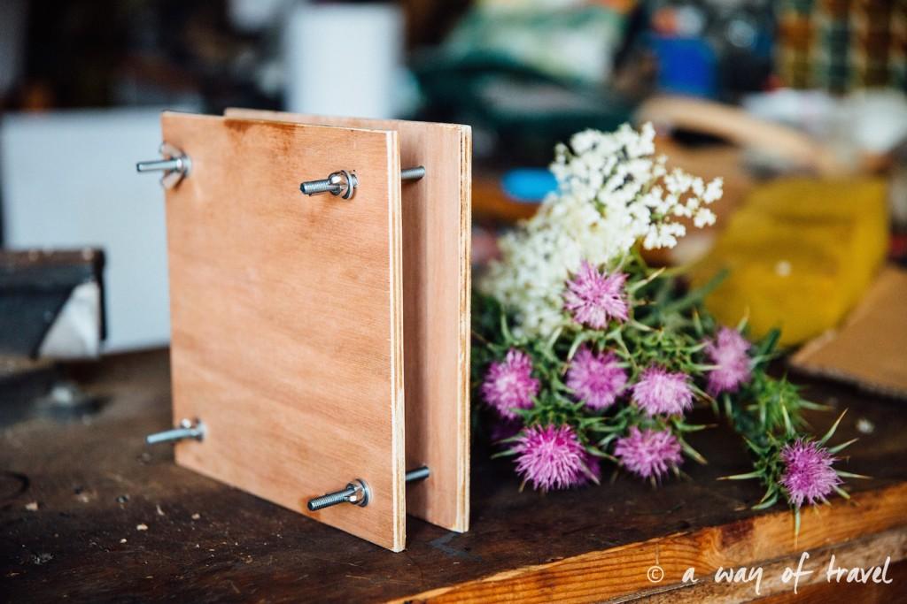 Presse Fleurs diy tUTO fABRIQUER BLOG herbier sechees chardon 3